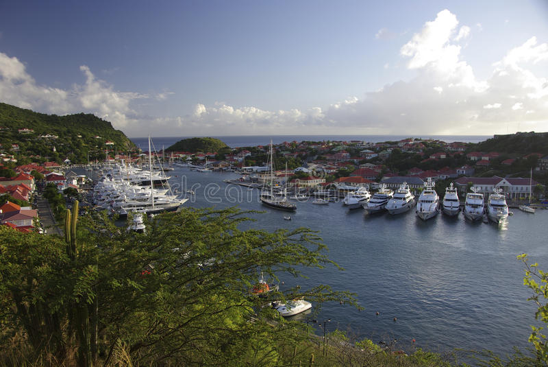 Porto de Gustavia fotografia de stock