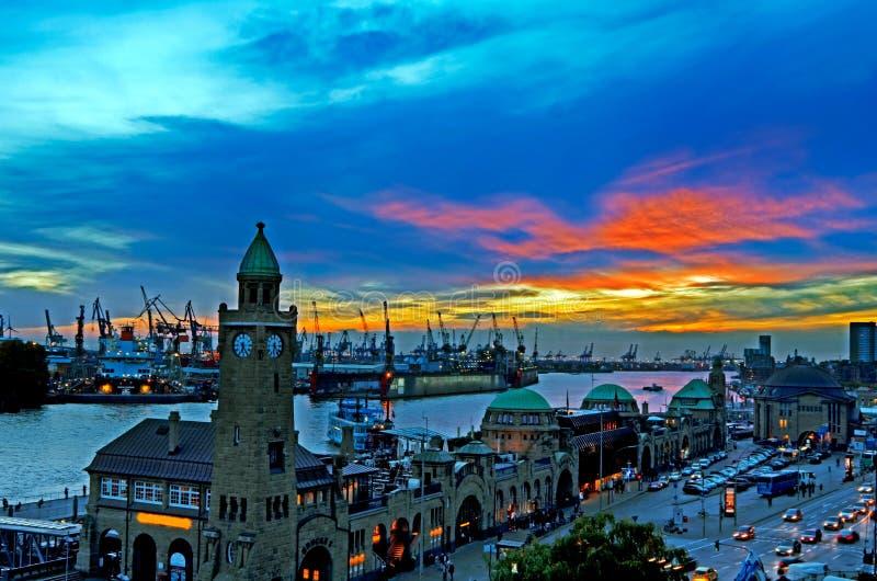 Porto de Hamburgo fotografia de stock royalty free