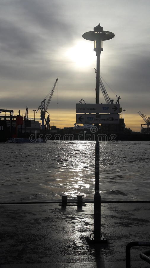 Porto de Hamburgo fotos de stock royalty free