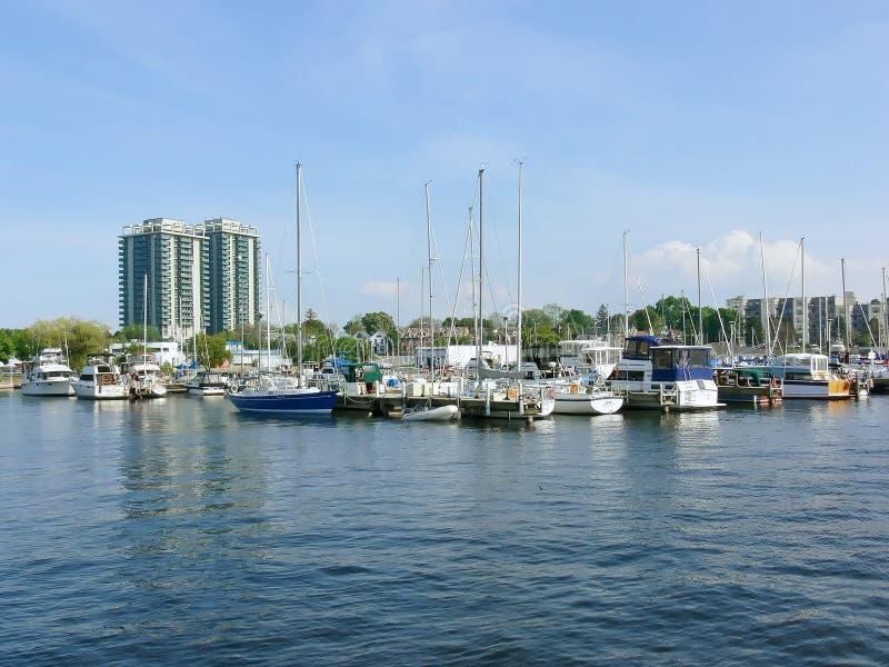Porto de Hamilton    imagens de stock royalty free