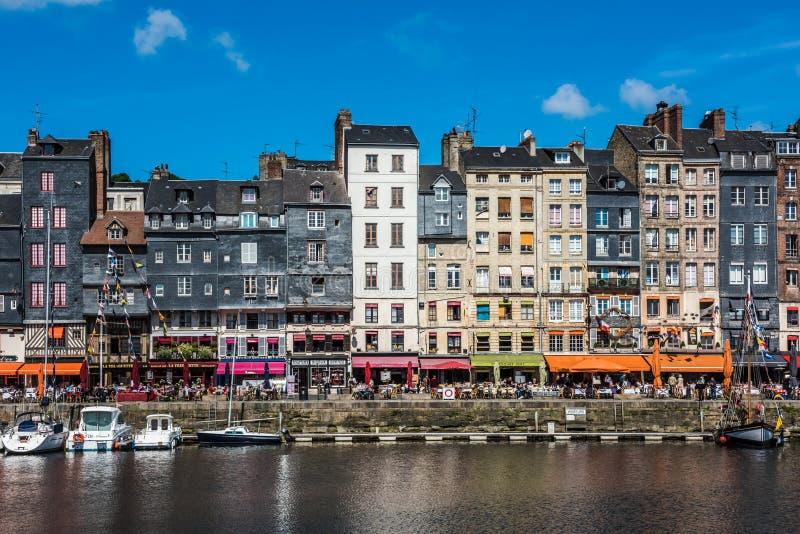 Porto de Honfleur em Normandy, France fotos de stock royalty free