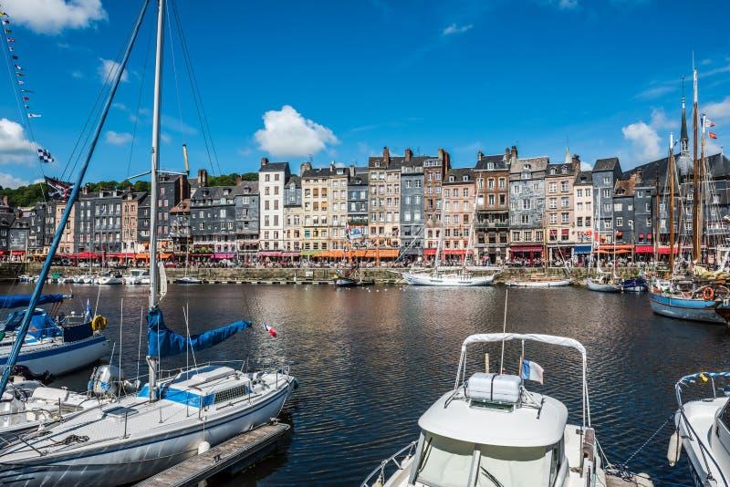 Porto de Honfleur em Normandy, France fotografia de stock