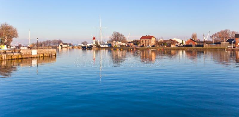Porto de Honfleur em Normandy, France imagens de stock royalty free