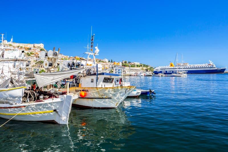 Porto de Kavala, Maced?nia oriental, Gr?cia do norte imagem de stock royalty free