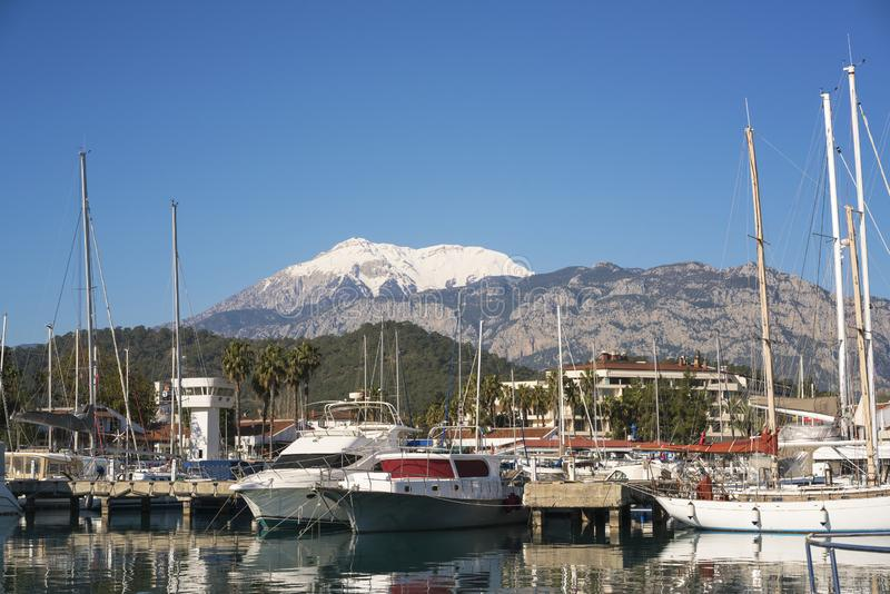 Porto de Kemer, Antalya/Turquia imagens de stock