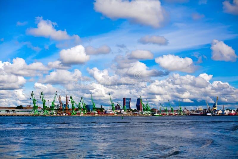 Porto de Klaipeda fotografia de stock