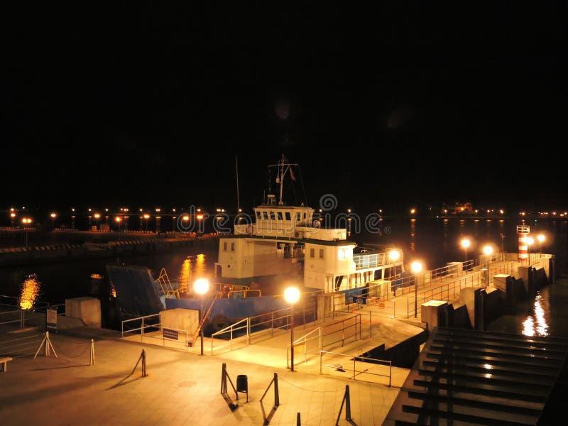 Porto de Klaipeda, Lituânia foto de stock