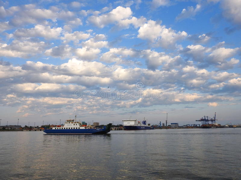 Porto de Klaipeda, Lituânia fotos de stock