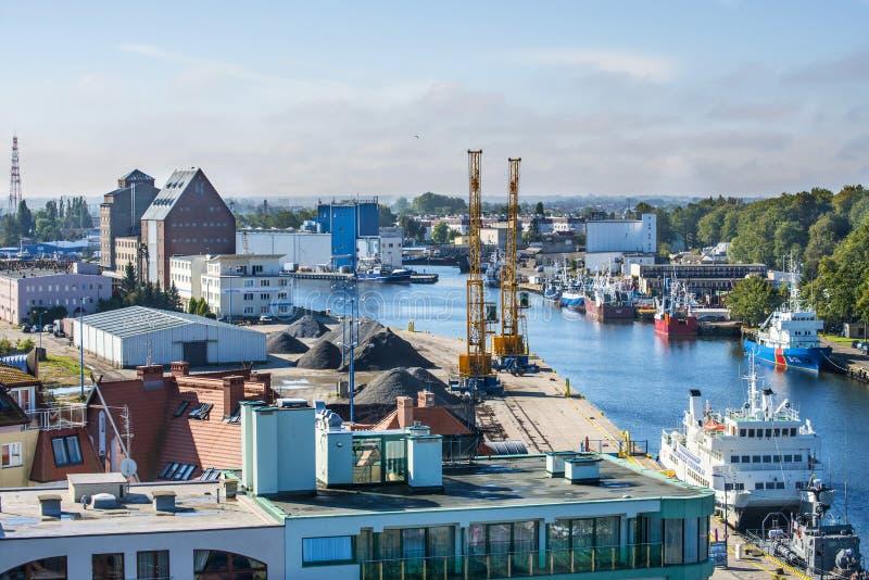 Porto de Kolobrzeg, Polônia fotografia de stock royalty free