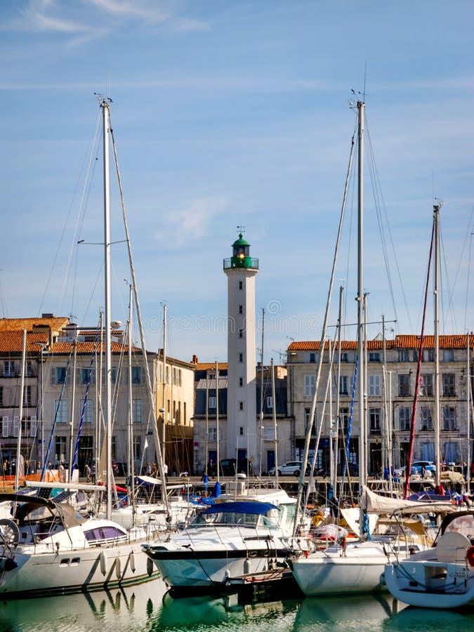 Porto de La Rochelle no Golfo da Biscaia, França imagem de stock royalty free