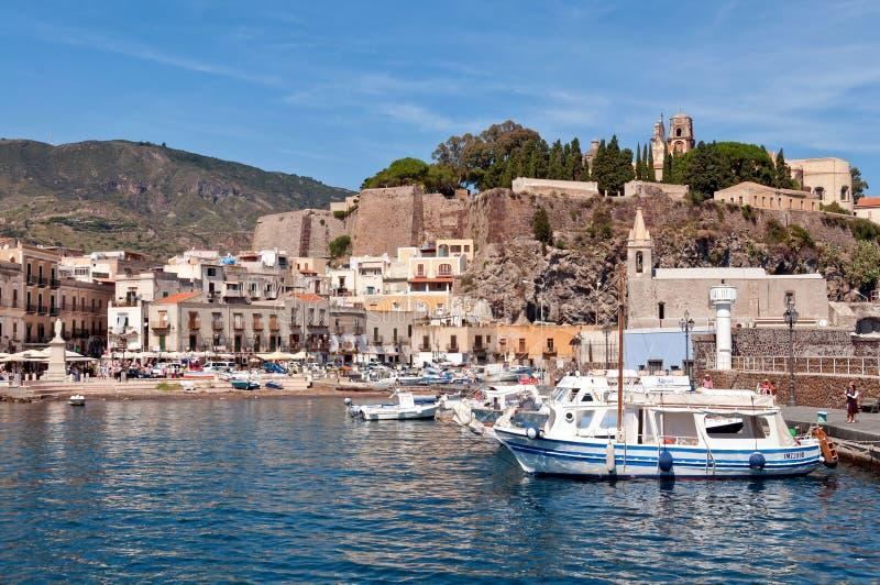 Porto de Lipari fotografia de stock royalty free