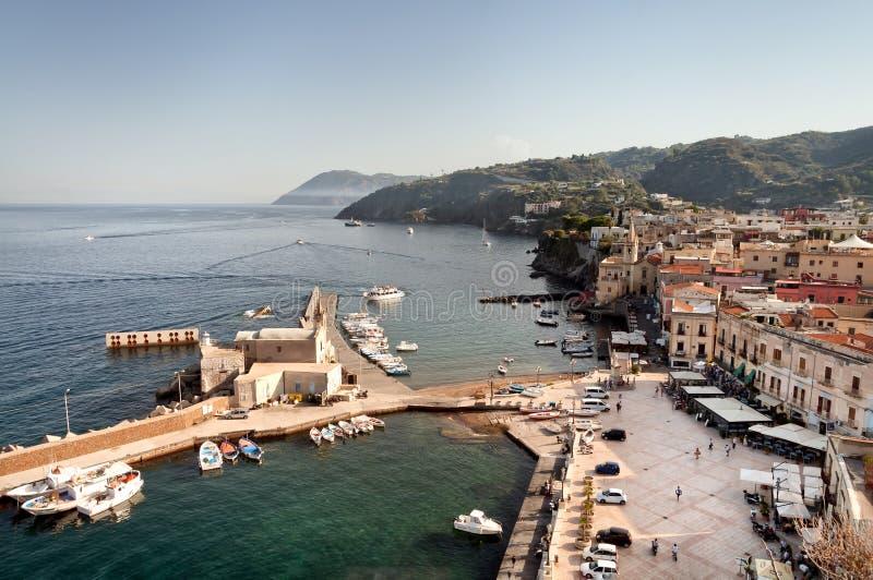 Porto de Lipari foto de stock royalty free