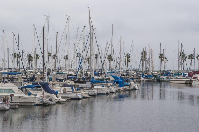 Porto de Long Beach foto de stock royalty free