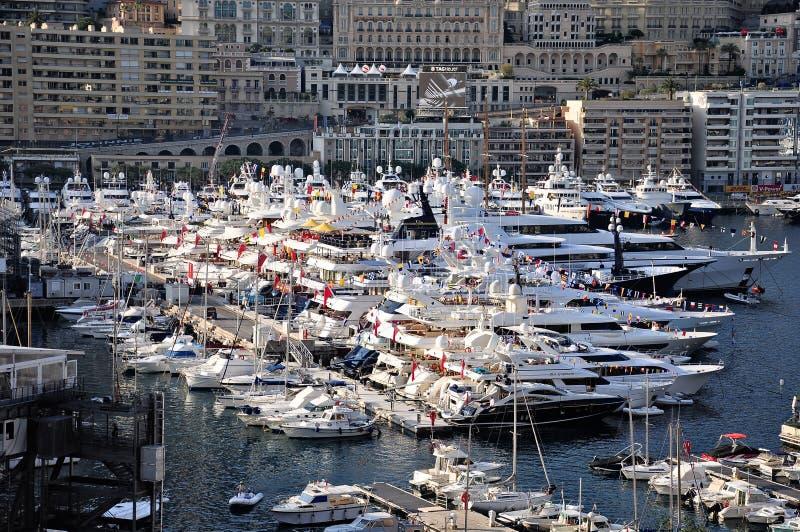 Porto de Mônaco. imagens de stock