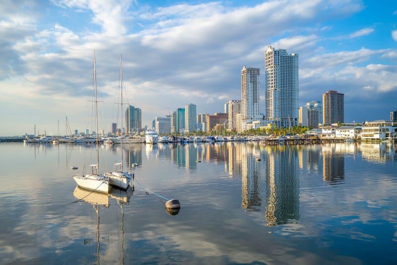 Porto de Manila na ba imagens de stock