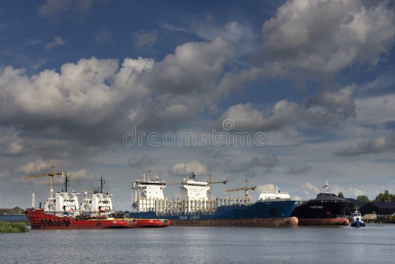 Porto de Merwede em Dordrecht imagens de stock royalty free