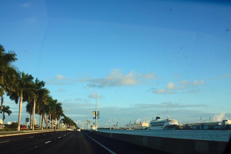 Porto de Miami Florida fotografia de stock royalty free