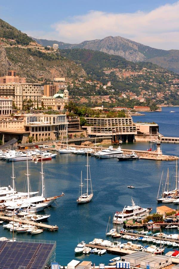 Porto de Monaco cénico foto de stock royalty free