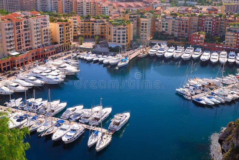 Porto de Monte - Carlo em Monaco fotografia de stock royalty free
