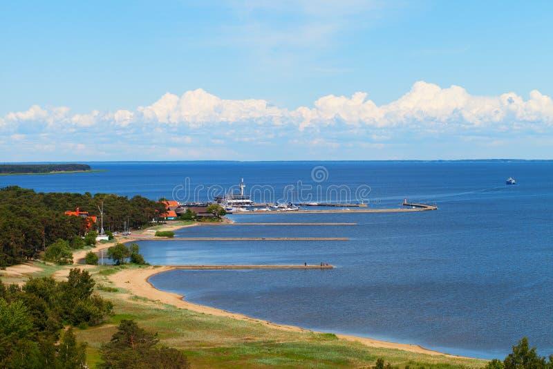 Porto de Nida, Lituânia. foto de stock