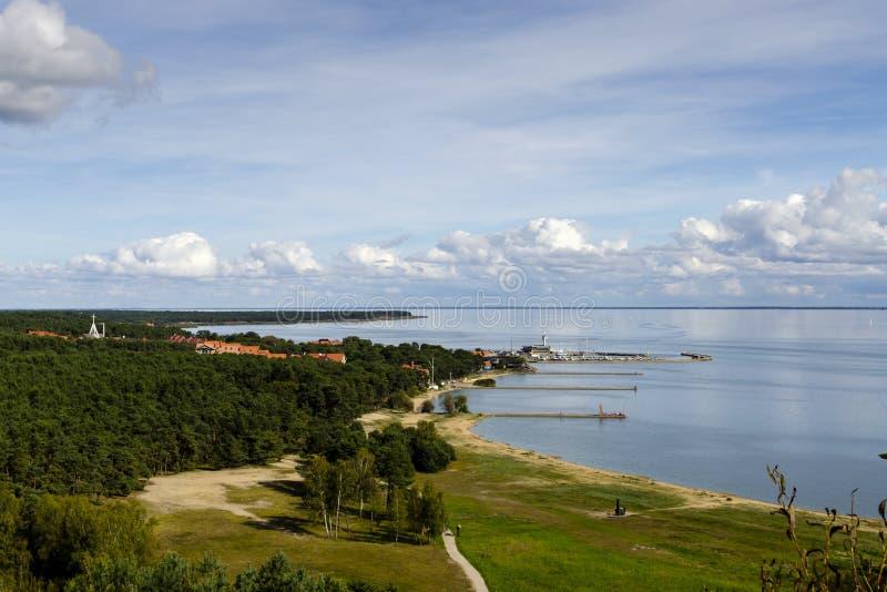Porto de Nida no cuspe de Curonian, Litu?nia imagem de stock royalty free