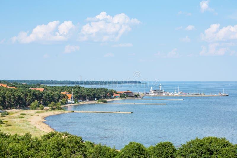 Porto de Nida no cuspe de Curonian imagem de stock royalty free