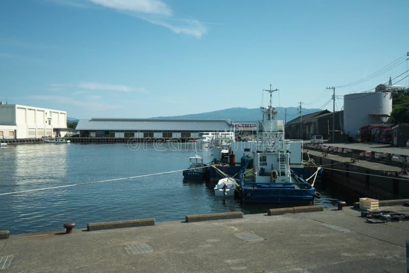 Porto de Numazu em Shizuoka, Japão fotos de stock royalty free