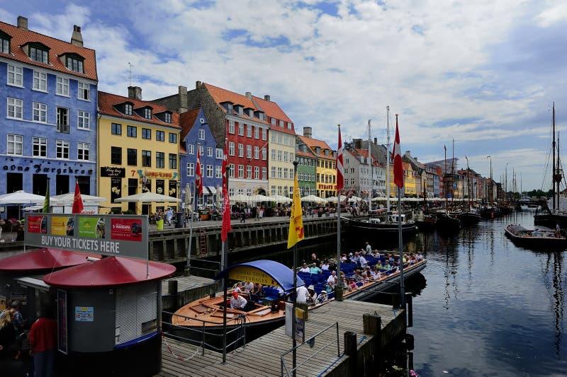 Porto de Nyhavn foto de stock