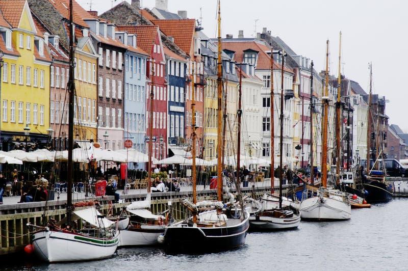 Porto de Nyhavn, Copenhaga imagem de stock royalty free