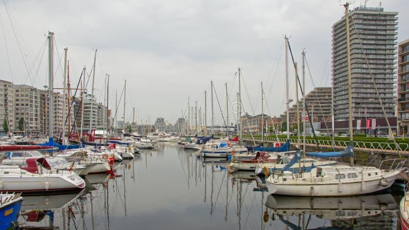 Porto de Ostende foto de stock