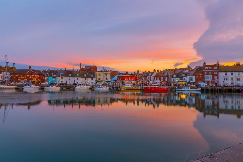 Porto de pesca em Weymouth, Dorset, Reino Unido fotos de stock