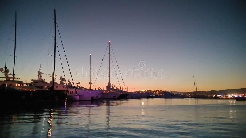 Porto de Piraeus imagem de stock royalty free