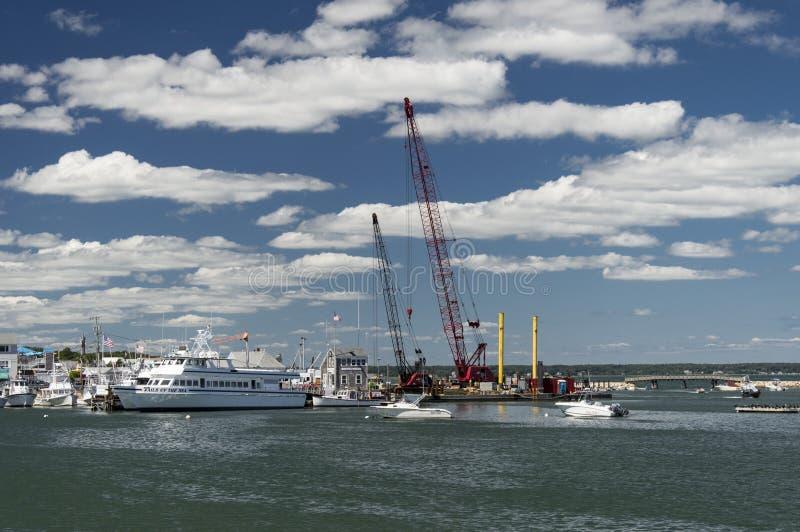 Porto de Plymouth, miliampère, EUA imagem de stock royalty free