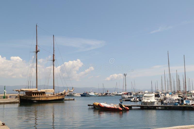 Porto de Poetto foto de stock