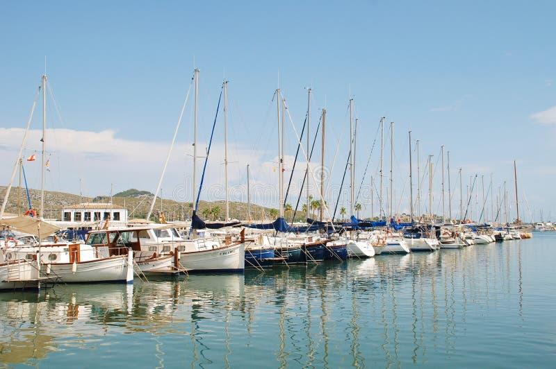 Porto de Puerto Pollensa, Majorca imagem de stock royalty free