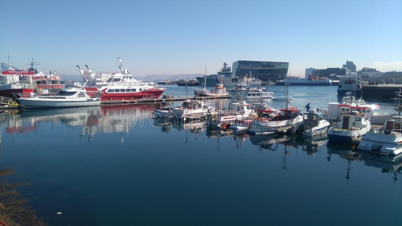Porto de Reykjavik fotos de stock royalty free