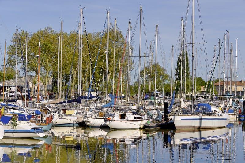 Porto de Rochefort em França imagem de stock