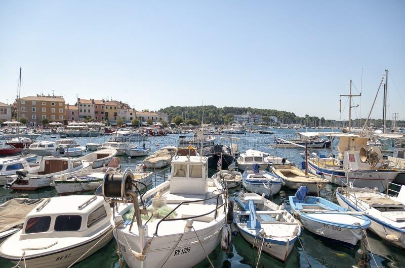 Porto de Rovinj, Croácia imagens de stock royalty free