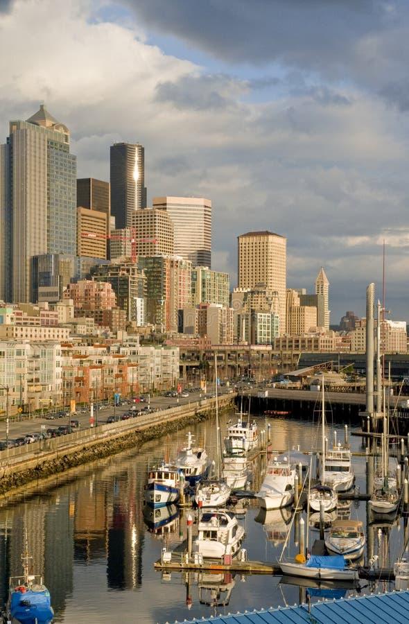 Porto de Seattle fotografia de stock