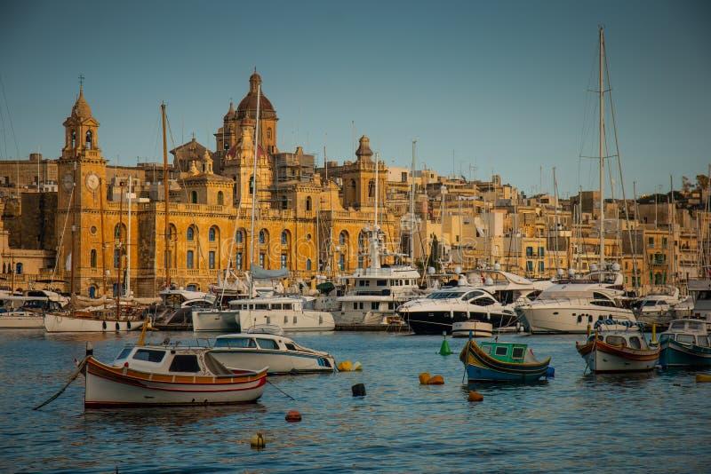 Porto de Senglea imagens de stock royalty free