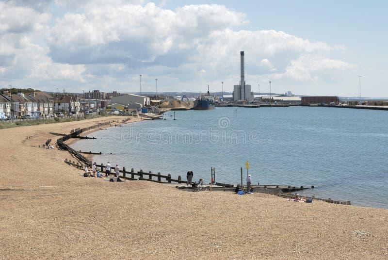 Porto de Shoreham. Sussex ocidental. Reino Unido imagens de stock