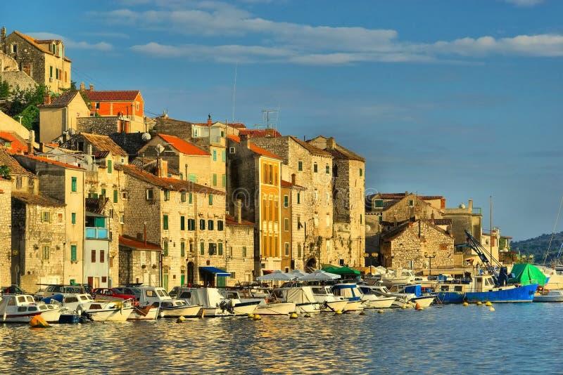 Porto de Sibenik fotografia de stock royalty free