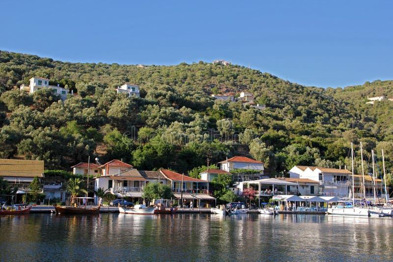 Porto de Sivota foto de stock royalty free