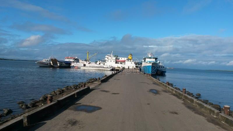 Porto de Sorong fotos de stock royalty free
