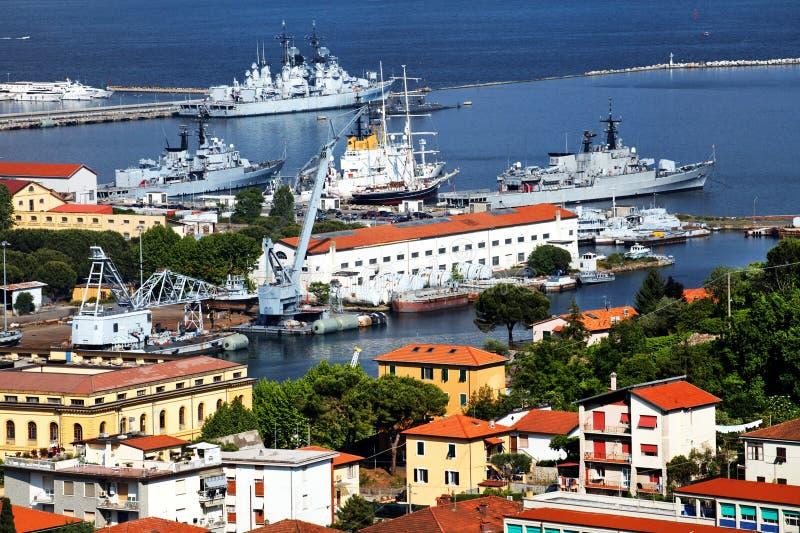 Porto de Spezia do La fotografia de stock