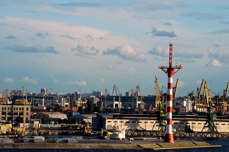 Porto de St Petersburg imagem de stock royalty free