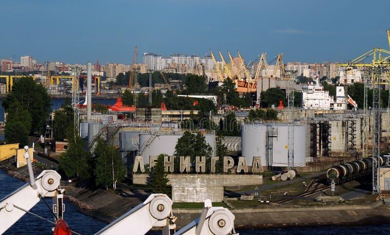 Porto de St Petersburg, Rússia imagens de stock