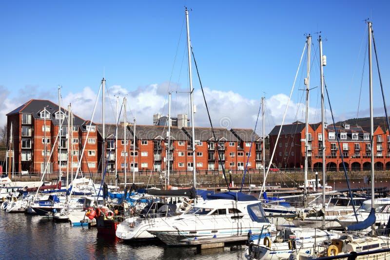 Porto de Swansea foto de stock royalty free