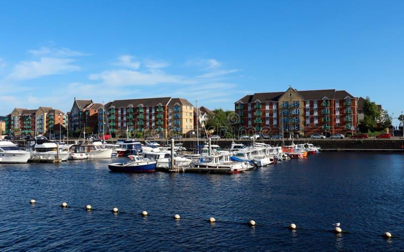 Porto de Swansea, Gales, Reino Unido fotos de stock royalty free