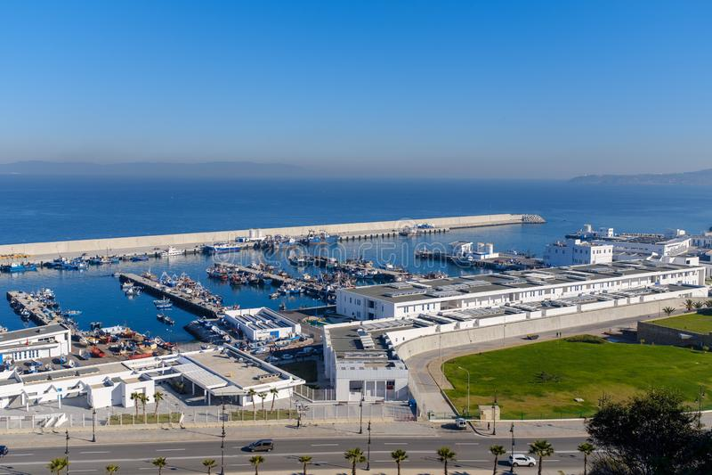 Porto de Tânger em Marrocos foto de stock royalty free